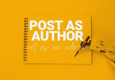 post as author