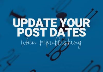 update post dates