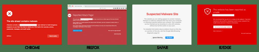 browser warnings